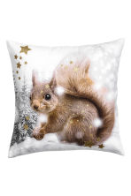 Printed cushion cover - White/Squirrel - Home All | H&M CN 2