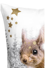 Printed cushion cover - White/Squirrel - Home All | H&M CN 4