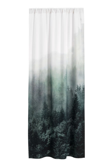 Curtain with photo print