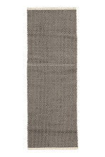 Jacquard-weave cotton rug - White/Anthracite -  | H&M GB 2