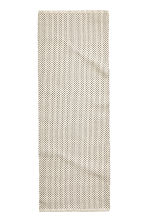 Jacquard-weave cotton rug - White/Anthracite -  | H&M GB 3