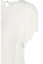 MAMA Crêped blouse - White - Ladies | H&M CN 3