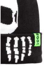 Knitted hat - Black/Skeleton - Kids | H&M CN 2