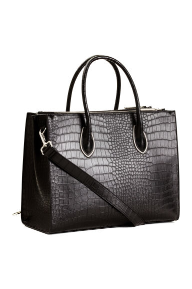 Handbag - Black/Patterned - Ladies | H&M CN 1
