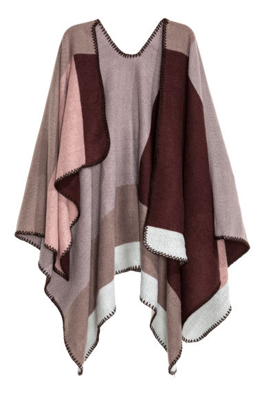 Block-patterned poncho - Mole - Ladies | H&M CN 1