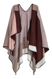 Block-patterned poncho