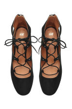 Court shoes with lacing - Black - Ladies | H&M CN 3