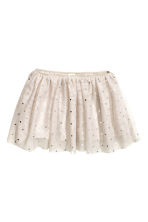 Tulle skirt - Light beige/Spotted - Kids | H&M CN 1