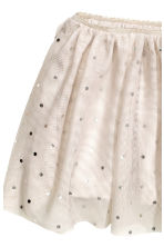 Tulle skirt - Light beige/Spotted - Kids | H&M CN 2