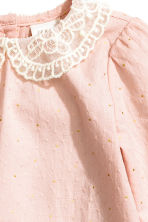 Textured blouse - Powder pink - Kids | H&M CN 4