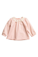 Textured blouse - Powder pink - Kids | H&M CN 1