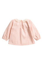 Textured blouse - Powder pink - Kids | H&M CN 2