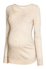 MAMA Fine-knit jumper - Light beige marl - Ladies | H&M CN 2