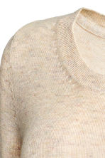 MAMA Fine-knit jumper - Light beige marl - Ladies | H&M CN 3