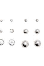 9-pack earrings - Silver - Ladies | H&M CN 2