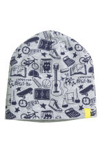 Patterned jersey hat - Grey/Patterned - Kids | H&M CN 1