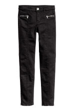 Twill biker trousers - Black - Kids | H&M CN 1