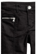 Twill biker trousers - Black - Kids | H&M CN 2