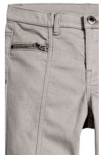 Twill biker trousers - Grey - Kids | H&M CN 4