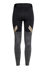 Seamless sports tights - Grey marl/Black - Ladies | H&M CN 3