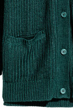 Chunky-knit cardigan - Emerald green - Ladies | H&M CN 3