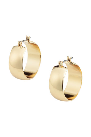 Small hoop earrings - Gold - Ladies | H&M GB 1