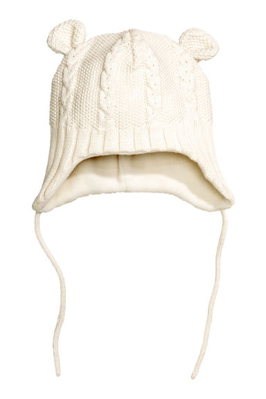 Fleece-lined hat - White - Kids | H&M CN 1