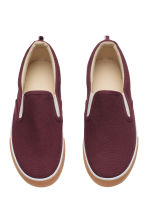 Slip-on trainers - Burgundy - Kids | H&M CN 2