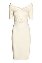 Fitted dress - Natural white - Ladies | H&M CN 2