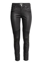 Skinny Ankle Biker Jeans - Black/Coated - Ladies | H&M GB 2