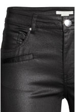 Skinny Ankle Biker Jeans - Black/Coated - Ladies | H&M GB 3
