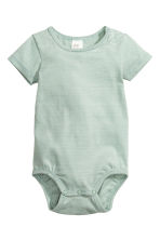 3-pack short-sleeved bodysuits - Mint green/Striped - Kids | H&M CN 2