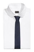 Silk tie - Dark blue -  | H&M 1