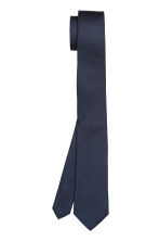 Silk tie - Dark blue -  | H&M 2