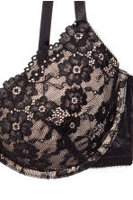 Lace push-up bra - Black/Powder - Ladies | H&M CN 3