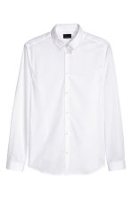 Premium cotton shirt - White - Men | H&M CN 2