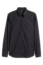 Premium cotton shirt - Black - Men | H&M 2