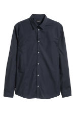 Premium cotton shirt - Dark blue - Men | H&M CN 2