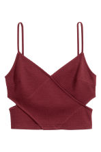 Top strutturato - Bordeaux - DONNA | H&M IT 2