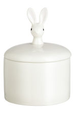 Box with a lid - White/Rabbit - Home All | H&M CN 2