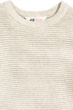 Textured jumper - Light beige - Kids | H&M CN 3