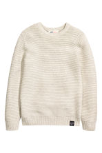 Textured jumper - Light beige - Kids | H&M CN 2