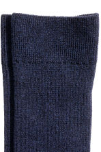 Ribbed socks - Dark blue marl - Men | H&M CN 2