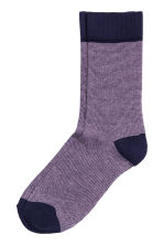 Striped socks - Dark blue/Pink - Men | H&M CN 1