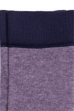 Striped socks - Dark blue/Pink - Men | H&M CN 2