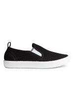 Slip-on mesh trainers - Black - Kids | H&M CN 1