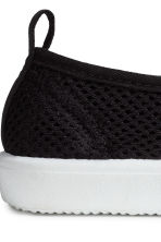 Slip-on mesh trainers - Black - Kids | H&M CN 3