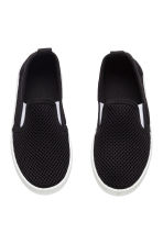 Slip-on mesh trainers - Black - Kids | H&M CN 2