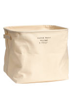 Cotton twill storage basket - Natural white - Home All | H&M CN 1