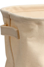 Cotton twill storage basket - Natural white - Home All | H&M CN 2
